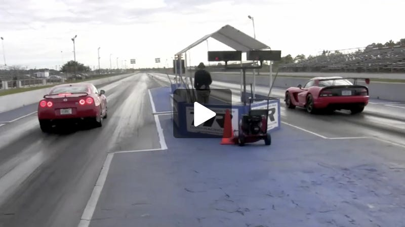Nissan GT-R Stomps Viper ACR On Drag Strip