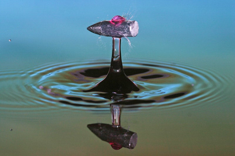What Does A Drop Of Water Look Like After Being Shot With A Bullet?