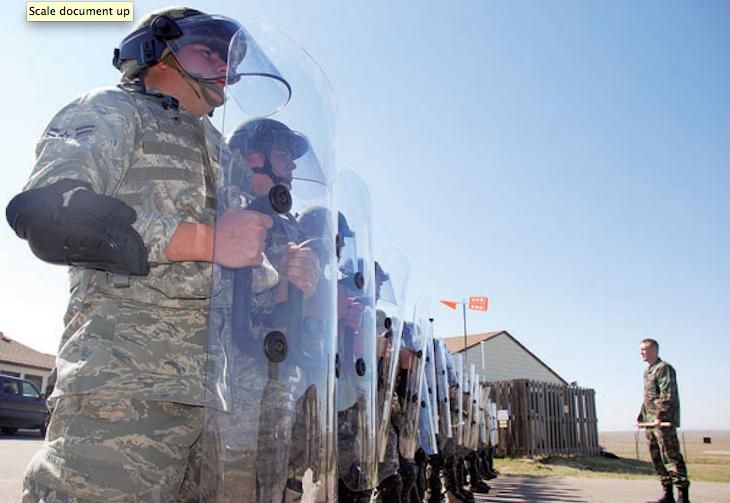 U.S. Military Veterans Criticize Police Tactics In Ferguson