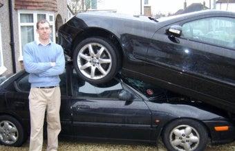 Mercedes Mounts Dodge Neon, We Giggle