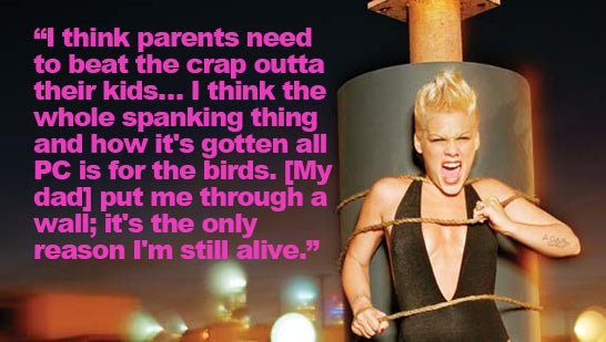 Pink Believes She Deserved Childhood Spanking