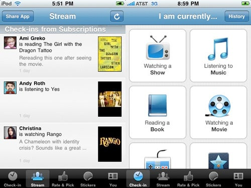 GetGlue iPhone App Works like Foursquare, Only With Books, Films and Music