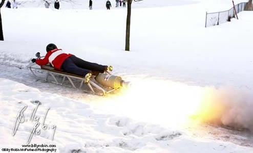 Dashing Through The Snow, Rocket-Powered Style