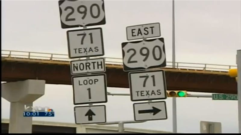 Texas Road Sign Trashes Woman's Lexus, But State Says We Ain't Payin'