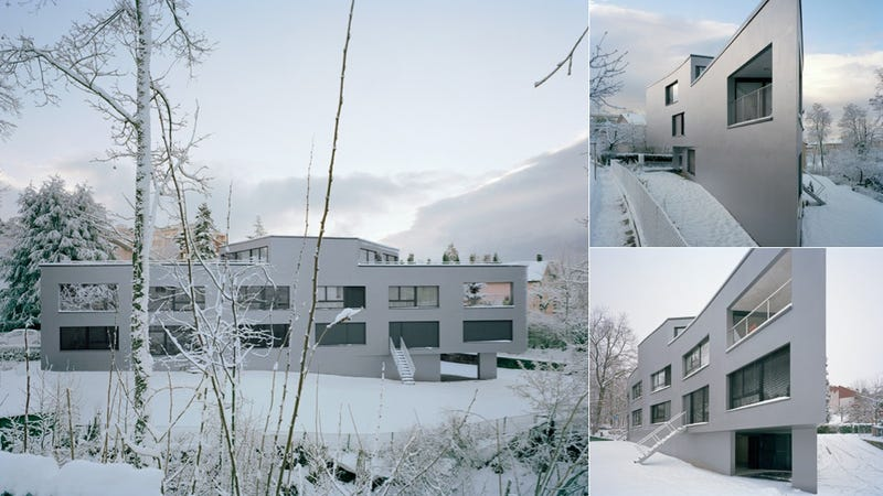 This Swiss Apartment Complex Doubles as a Secret Snow Fortress