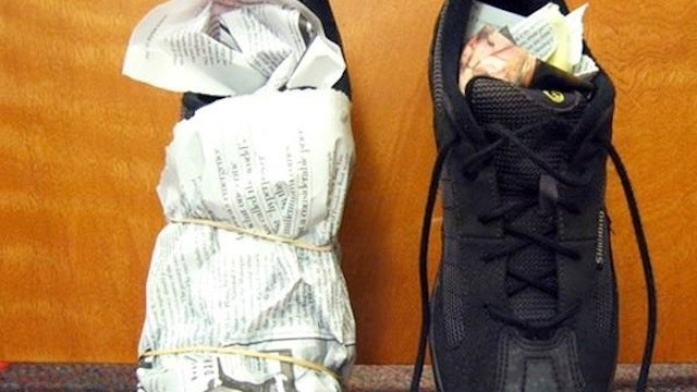Use Newspaper to Dry Soaking Wet Shoes Inside and Out