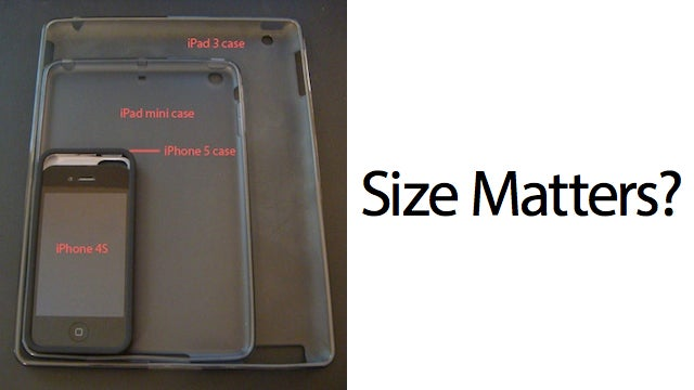 How an iPhone 5 and iPad Mini Might Compare in Size to the iPhone 4S and iPad