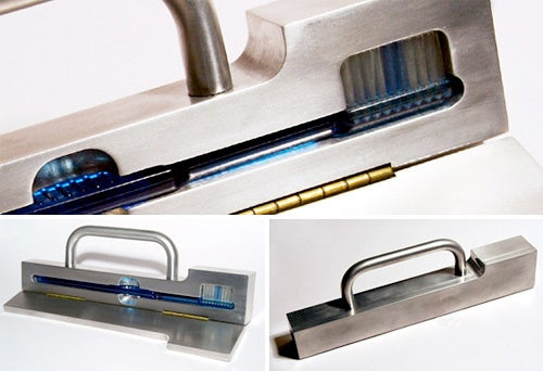 Unibody Aluminum Toothbrush Holder Keeps Germs Out