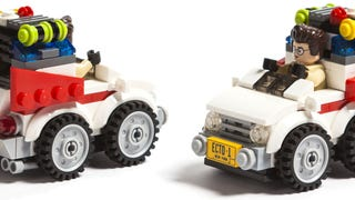 This chibi Lego Ghostbusters Ecto-1 is the cutest