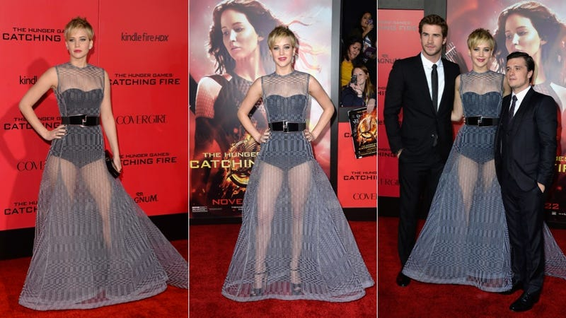 Here's Jennifer Lawrence in a Totally See-Through Dress 'Cause Why Not