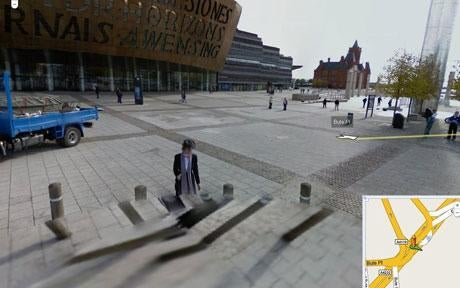 Google Street View Captures Victorian Ghost Walking in Cardiff