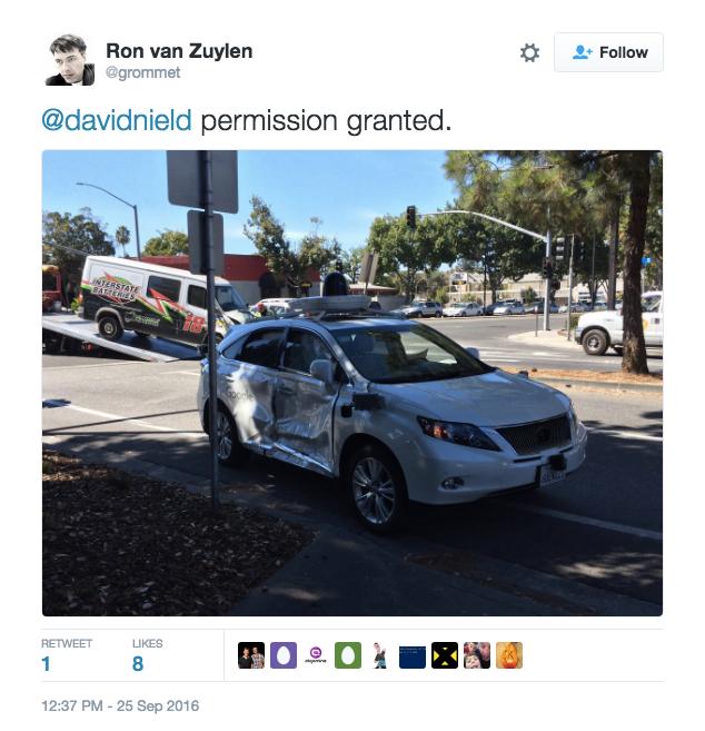 Google's Self-Driving Car Crash Sends Operator To Hospital