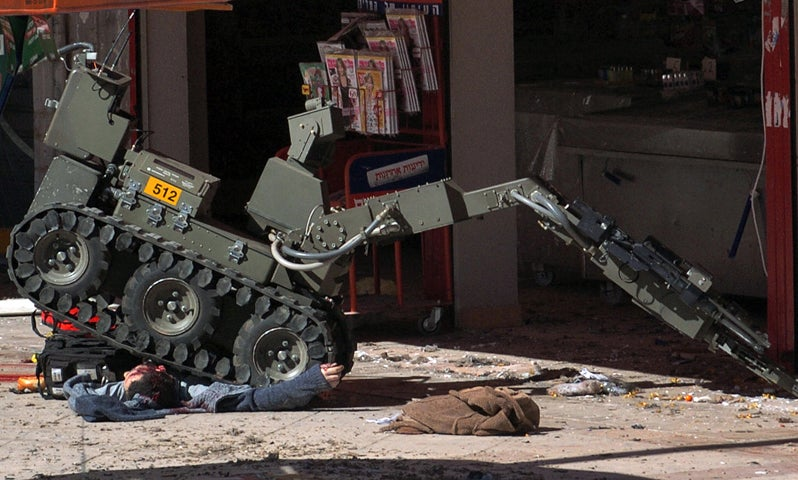 Israeli Bomb Disposal Robot Has a Terrible Job Cleaning Up After Humans