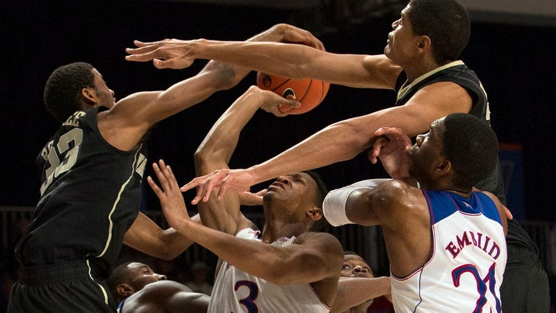 Wake Forest And Kansas Basketball Players Have Lots Of Arms