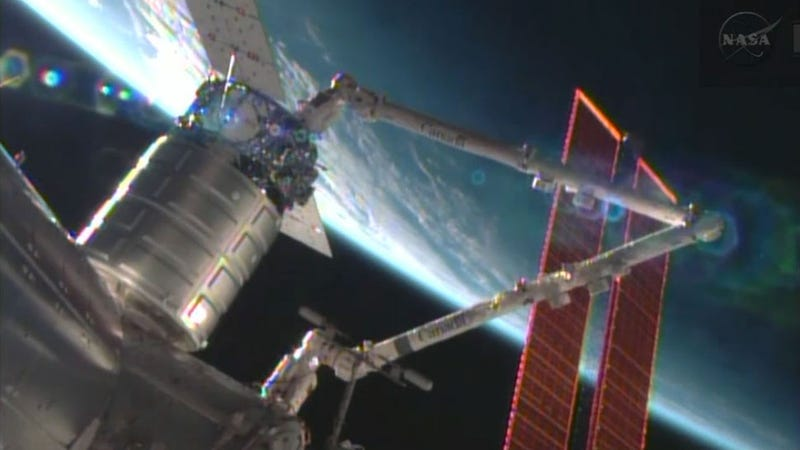 The First Cygnus Spacecraft Successfully Docked With The ISS