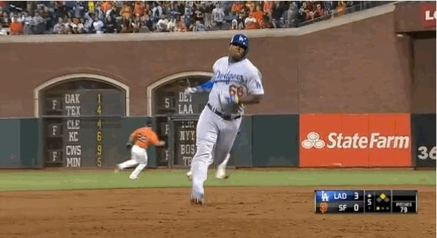 Yasiel Puig Hit Three Triples And Barely Broke A Sweat