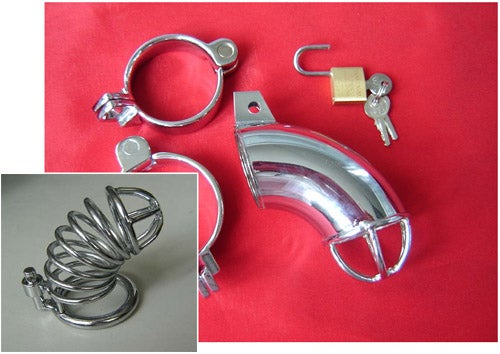 Metal Male Chastity Device, Only $15.52 Per Unit