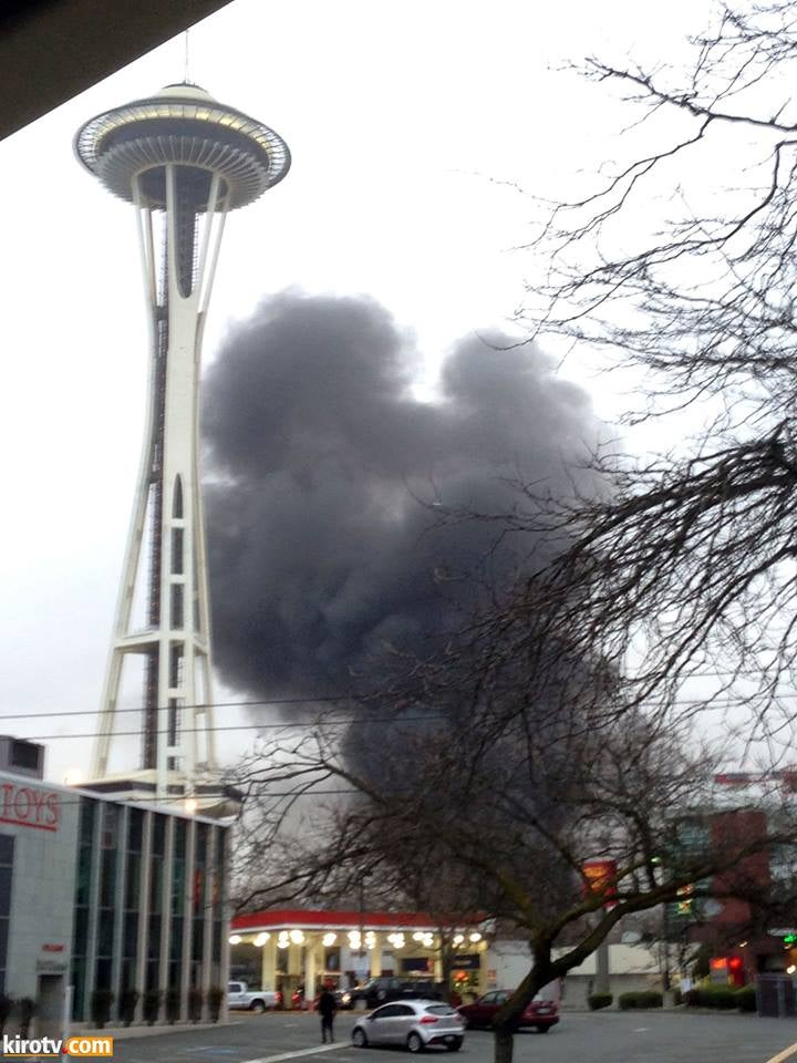 KOMO 4 Helicopter just crashed in Seattle