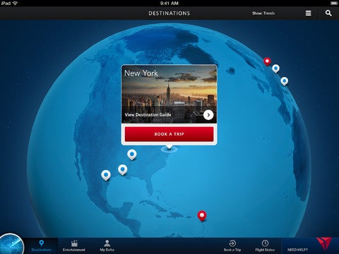 Fly Delta for iPad Gallery