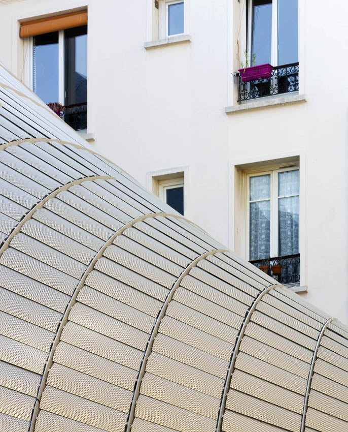 This Glistening Steel Armadillo Now Occupies Downtown Paris
