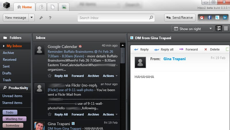 Inbox2 Desktop Combines and Task-ifies Your Email and Social Networks
