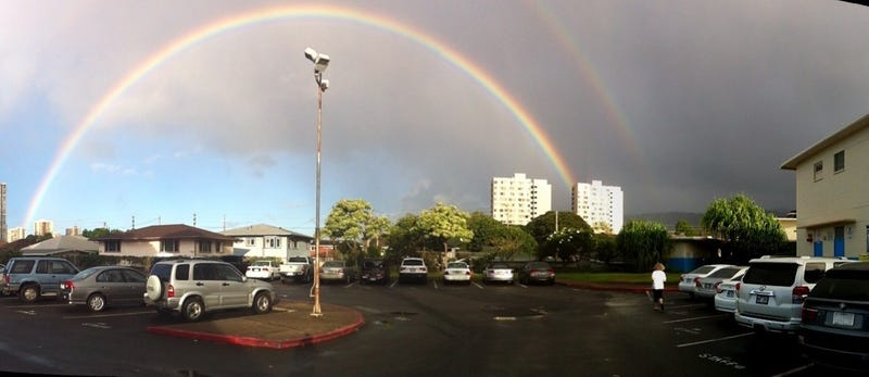 Shut It Down: God Calls Election for Obama with Epic Double Rainbows Near the President's Old Elementary School