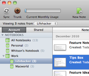 Evernote 2.0 Available for Mac, Brings Notebook Sharing and Stacks