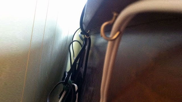 Control Cable Clutter with Cheap Eyehooks Under Your Desk