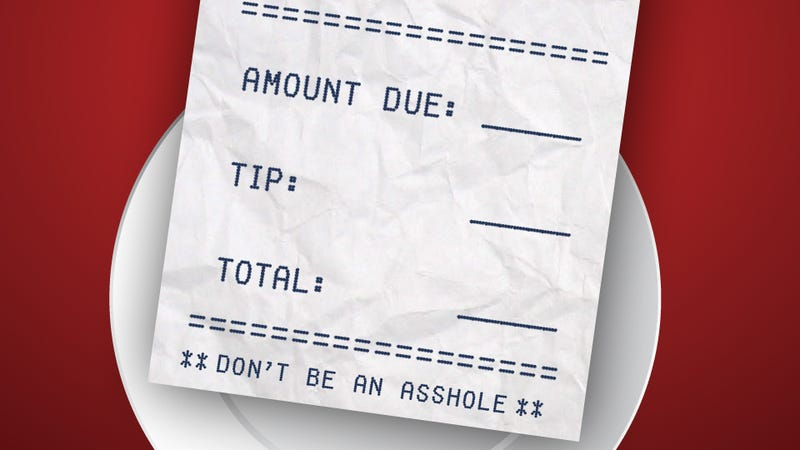 Fuck You if You Don't Tip Your Server