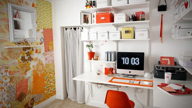 Red, White, and Storage All Over: The Espana Photography Workspace