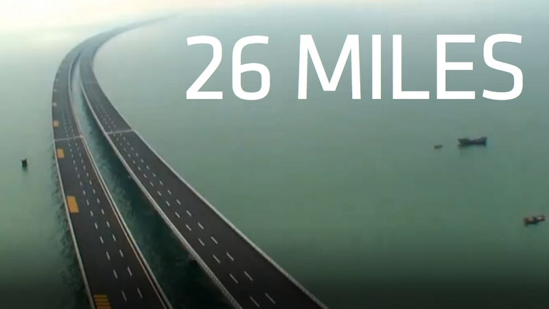 China builds worlds longest cross-sea bridge