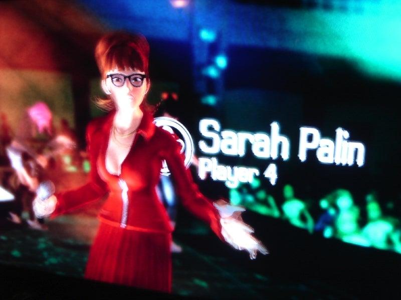 Sarah Palin in Rock Band 2
