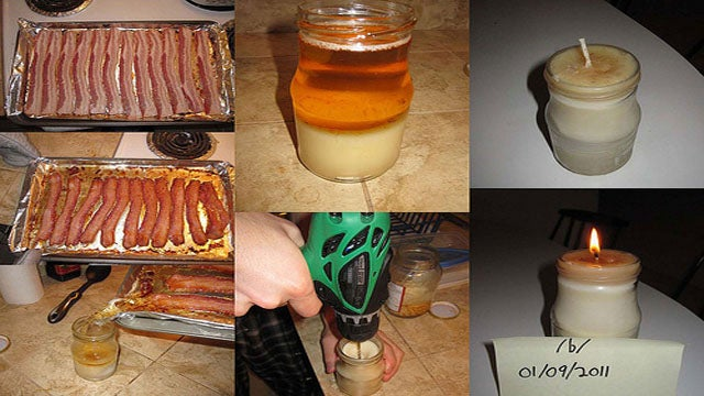 DIY Bacon Fat Candle