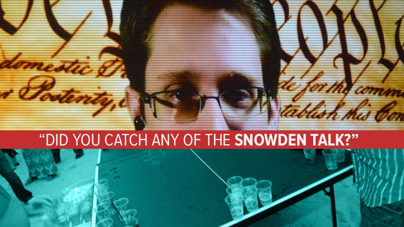 Ed Snowden, You Wasted Your Time at SXSW