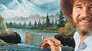 Pop an Ambien and watch happy Bob Ross happily washing his happy brush