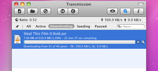 Transmission BitTorrent Client Updates to Support Magnet Links and More