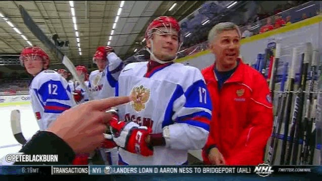 Russia-USA World Junior Hockey Game Ends With Silly Taunting