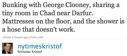 The Twitterati Hold Hands with George Clooney's Hose
