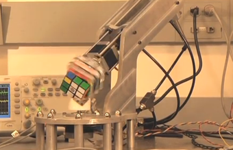 Watch a robot finish a Rubik's Cube in 15 seconds
