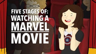 Five Stages of Watching A Marvel Movie