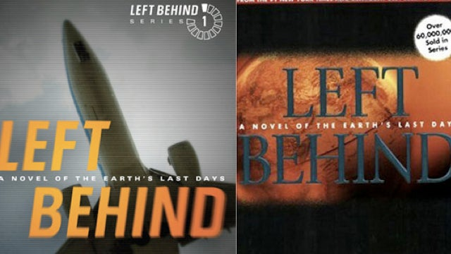 What do the covers of the Left Behind series say about modernity?