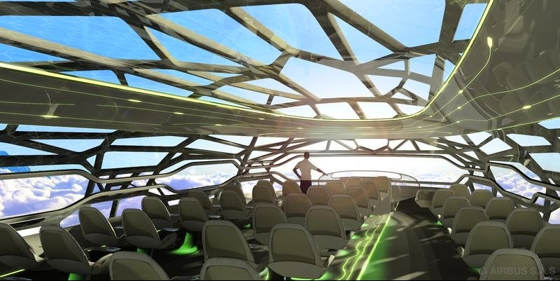 Awesome Concept Art for a Transparent Airplane, Coming in 2050