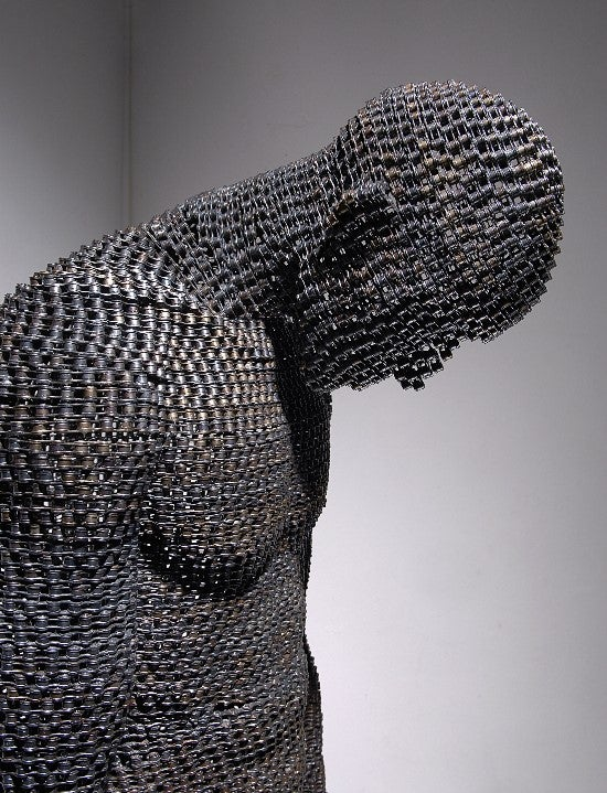 Bike Chains Welded into the Shape of Human Despair