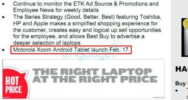 Motorola Xoom Lands at Best Buy February 17