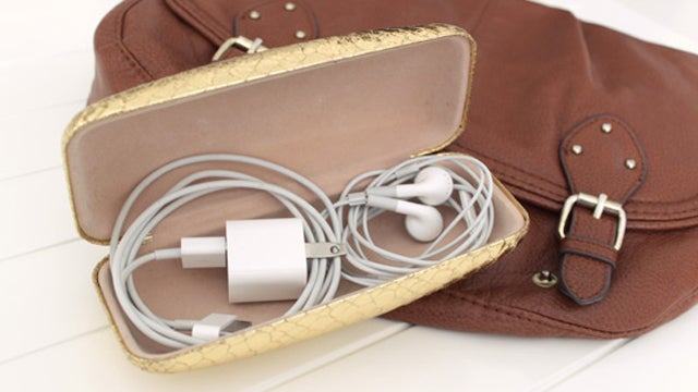 Store Your Cables Tangle-Free in a Glasses Case