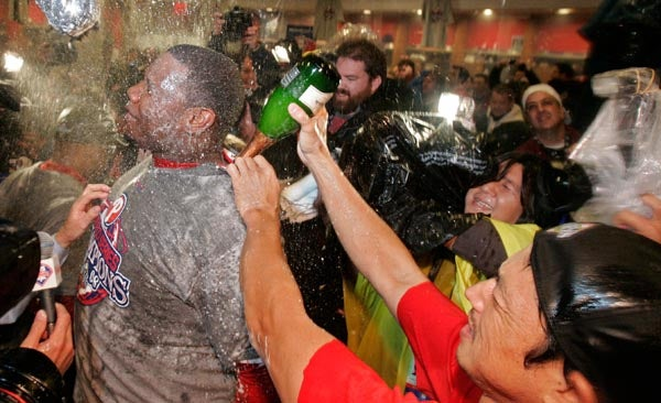 A Children's Treasury Of Men Getting Blasted In The Face With Champagne