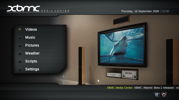 XBMC 'Atlantis' Beta 1 Released for All Platforms