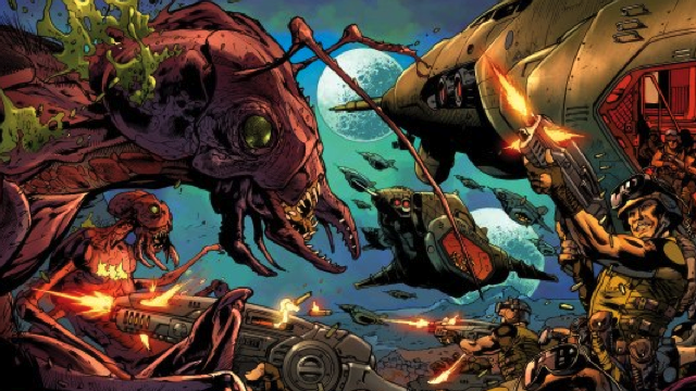 Wednesday's comics = insectoid alien mayhem and housewives with guns