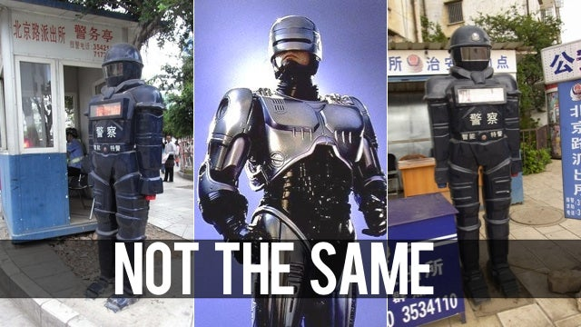 Bad Chinese People, Stop Effing with the Robot Policemen!
