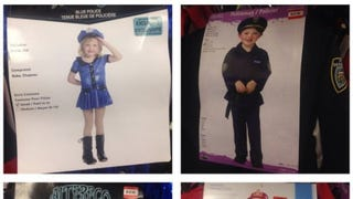 Sexy Halloween Costumes for 4-6 year old Girls pulled from Value Village